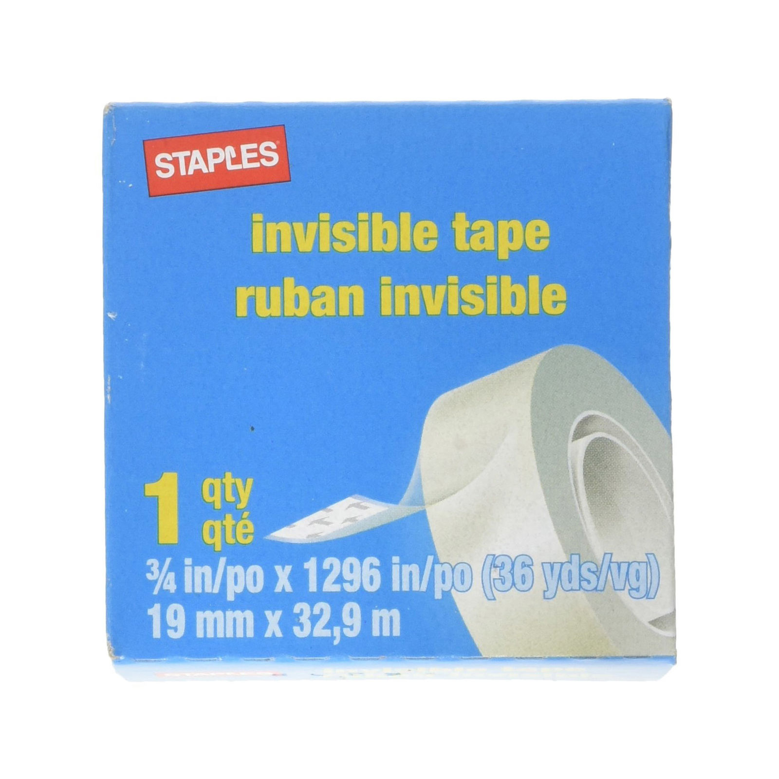 Staples 52477-P12 Invisible Tape 12 Pack (Each 36 yards)