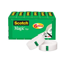 Shop Scotch Brand Magic Tape, 3/4 x 1000 Inches, Boxed, 6 Rolls (810K6)