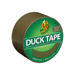 Duck Brand 241340 Color Duct Tape, Olive, Matte Finish, 1.88 Inches x 15 Yards