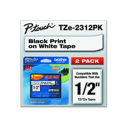 "Shop Brother Genuine P-touch, TZE2312PK, 1/2"" (0.47"") Laminated P-Touch Tape (2 Pack)"