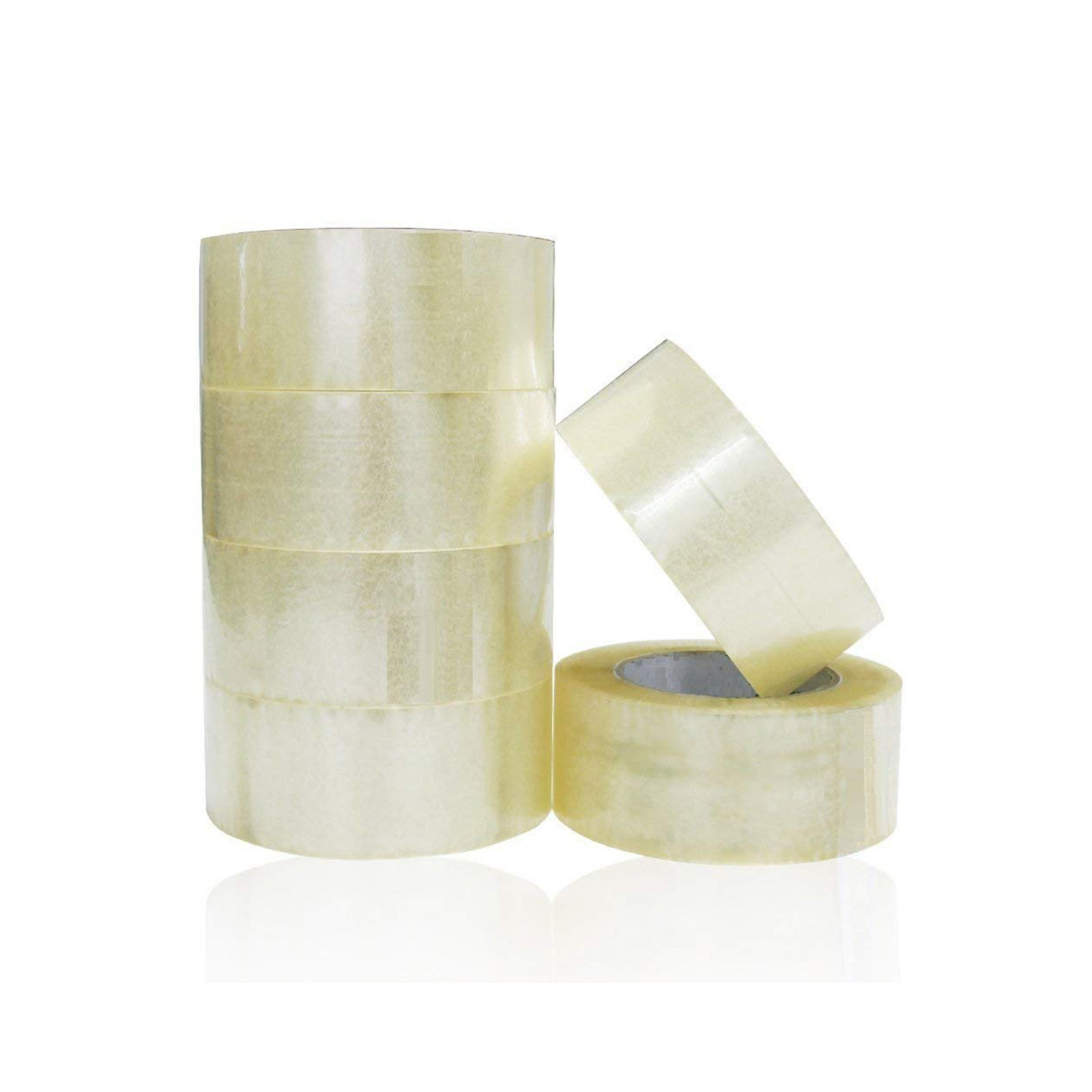 Clear Packing Tape 2 inch x 100 Yards Per Roll (6 Pack)