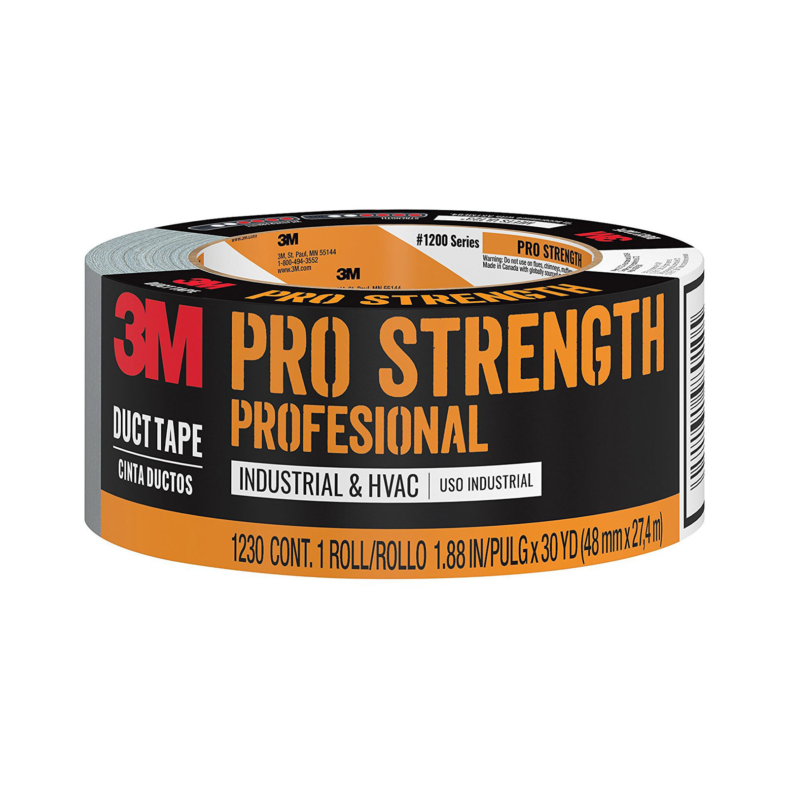 3M Pro Strength Duct Tape, 1230-C, 1.88 Inches by 30 Yards