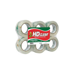Shop Duck HD Clear Heavy Duty Packaging Tape Refill 1.88 Inch x 109.3 Yard (6 Pack)