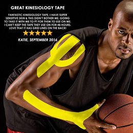 Physix Gear Sport Kinesiology Tape with Free Illustrated E-Guide - 16ft Uncut Roll