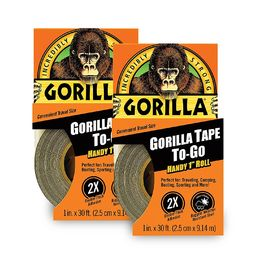 "Shop Gorilla 6100116 Duct Tape To-Go 1"" x 10 yd (2 Pack)"