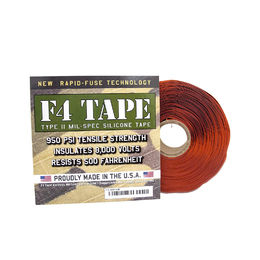 "Shop F4 Tape - Self-Fusing Silicone Tape MIL-SPEC 1"" X 36' (Red Oxide)"