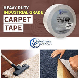 Sugarman Creations Strongest Double Sided Carpet Tape 4 in x 40 yd