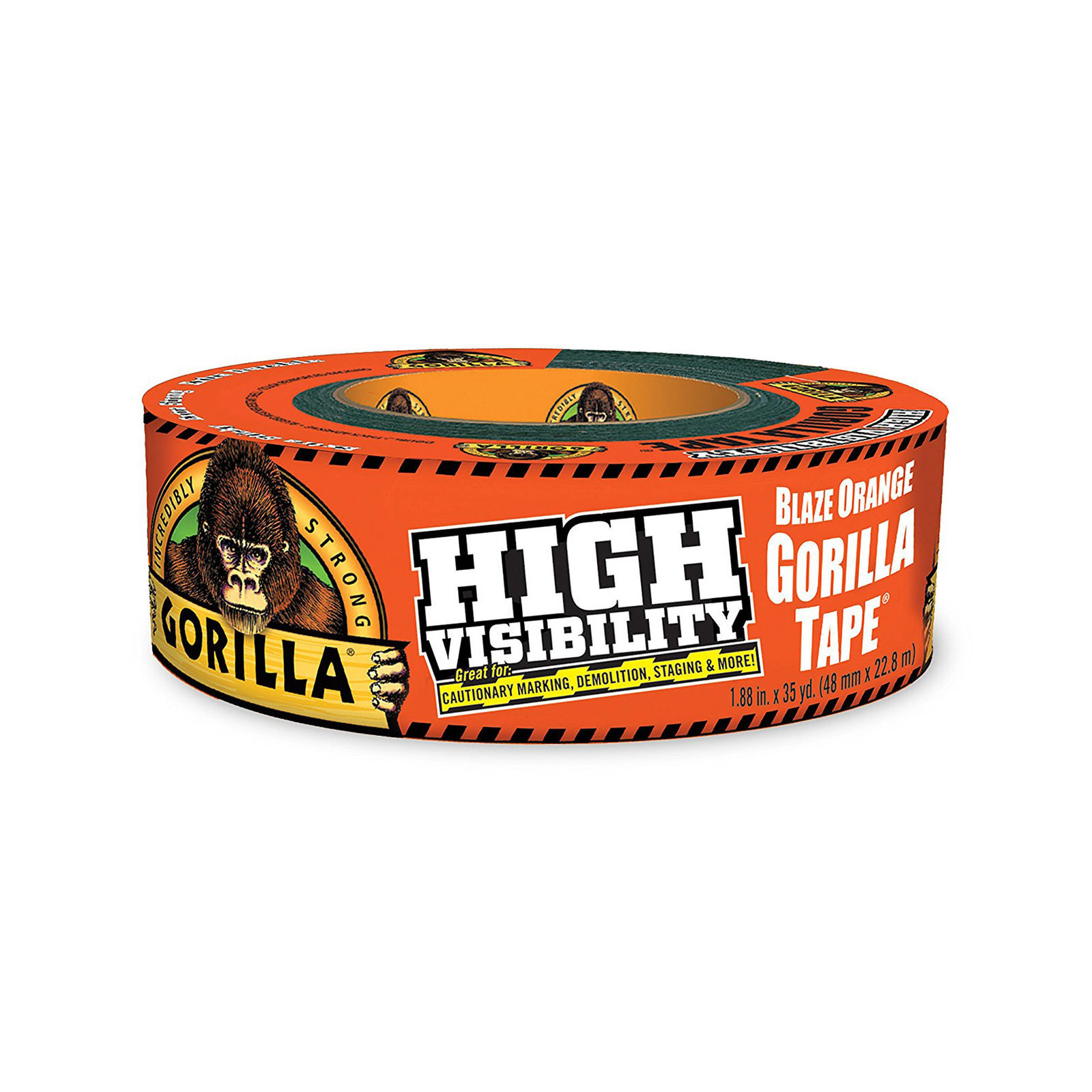 "Gorilla 6004002 Tape, High Visibility Duct Tape, 1.88"" x 35 yd, Blaze Orange"
