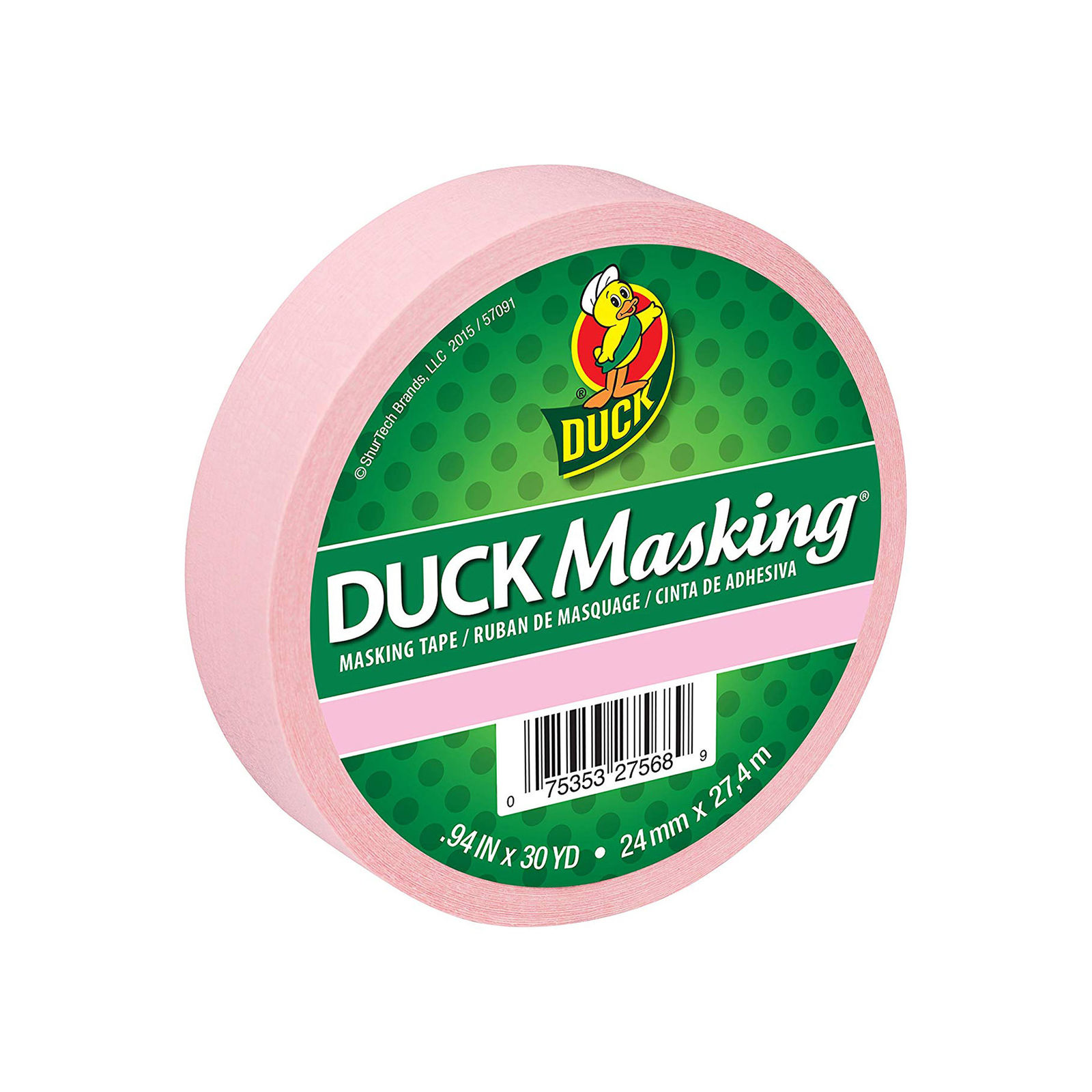Duck Masking 240879 Pink Color Masking Tape .94-Inch x 30 Yards