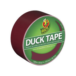 Duck Brand 1311061 Color Duct Tape, Maroon, 1.88 Inches x 20 Yards, Single Roll